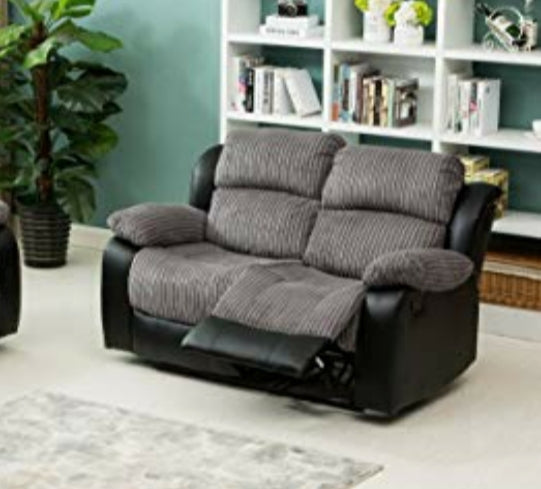 Florida 2x 2 Seater Sofas Reclining Set - 48 HOUR DELIVERY