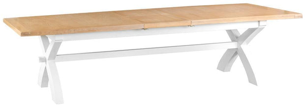 Truro White Cross Extending Dining Table - Various Sizes