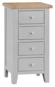 Truro Grey 4 Drawer Narrow Chest Of Drawers