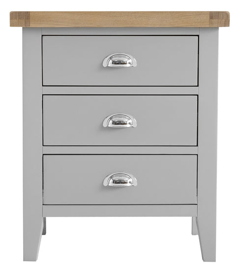 Truro Grey Extra Large Bedside Table