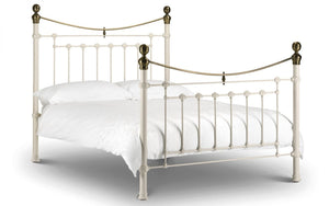 Tori Bed Frame Stone White