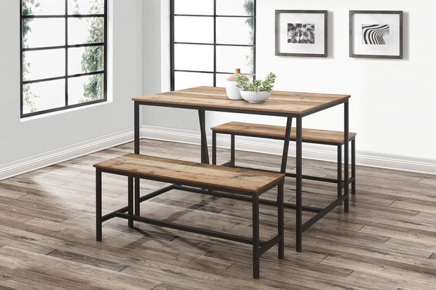 Urban Dining Table And Bench Set