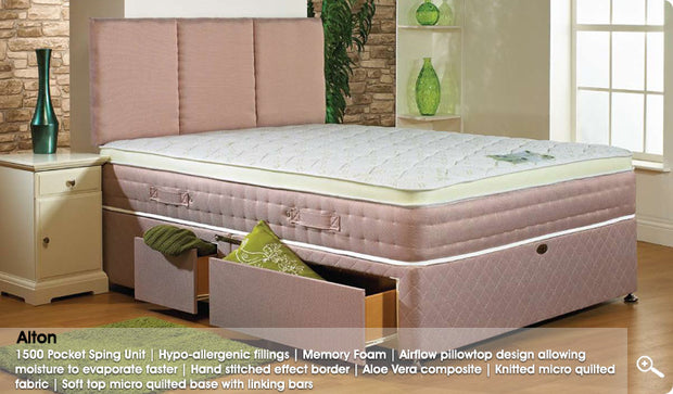 Aston 1500 Pocket Sprung Mattress Inc Divan Bse