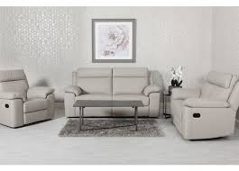 Enzo 2 Seater Leather Sofa - Putty Grey