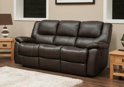 Parker Leather 3 Seater Sofa