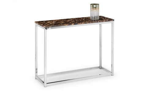 Sala Marble & Chrome Effect Console Table