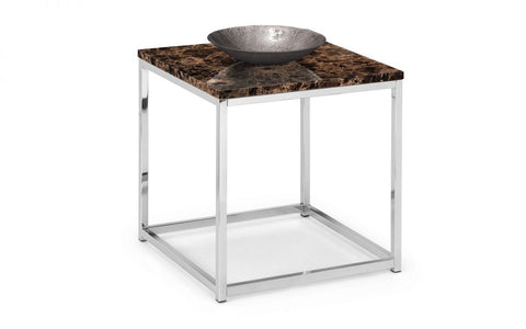 Sala Marble & Chrome Effect Lamp Table