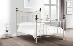 Tori Bed Frame Stone White *FREE DELIVERY*