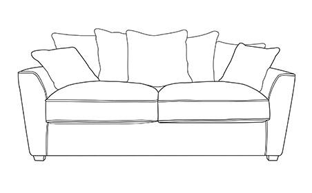 Wilmslow 3 Seater Pillow Back Sofa