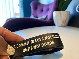 LOVE NOT HATE WRISTBAND PROJECT