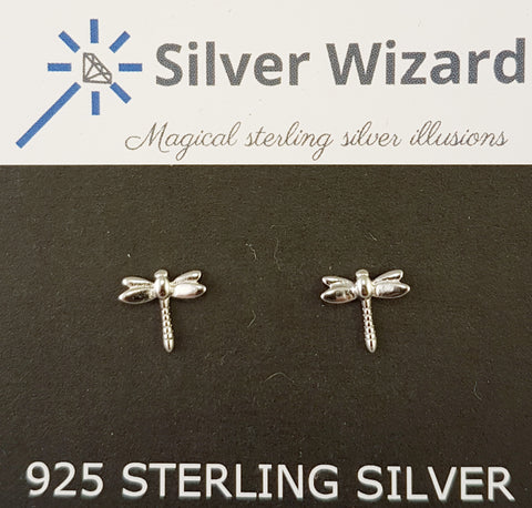 Dragonfly ~ 925 Sterling Silver Stud Earrings