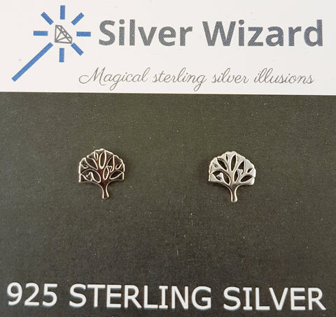 Tree of Life ~ 925 Sterling Silver Stud Earrings