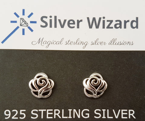 Radiant Rose ~ 925 Sterling Silver Stud Earrings