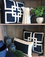 Load image into Gallery viewer, Styled Navy Hamptons Cushions