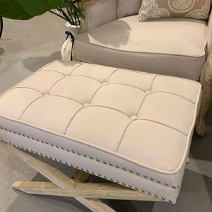 Hamptons Style Buttoned Footstool
