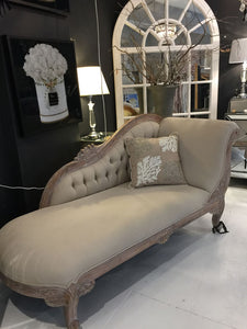 Luxe French Provincial Style Chaise Lounge