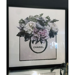 Chanel Floral Printed Wall Art
