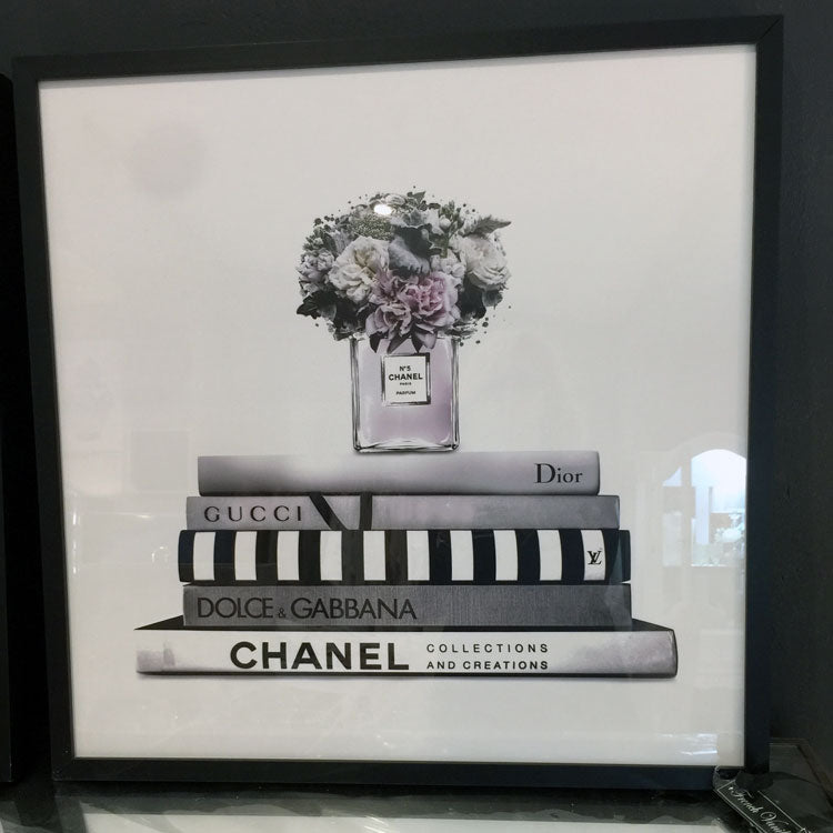 Fashion Designer Book Stack Framed Print