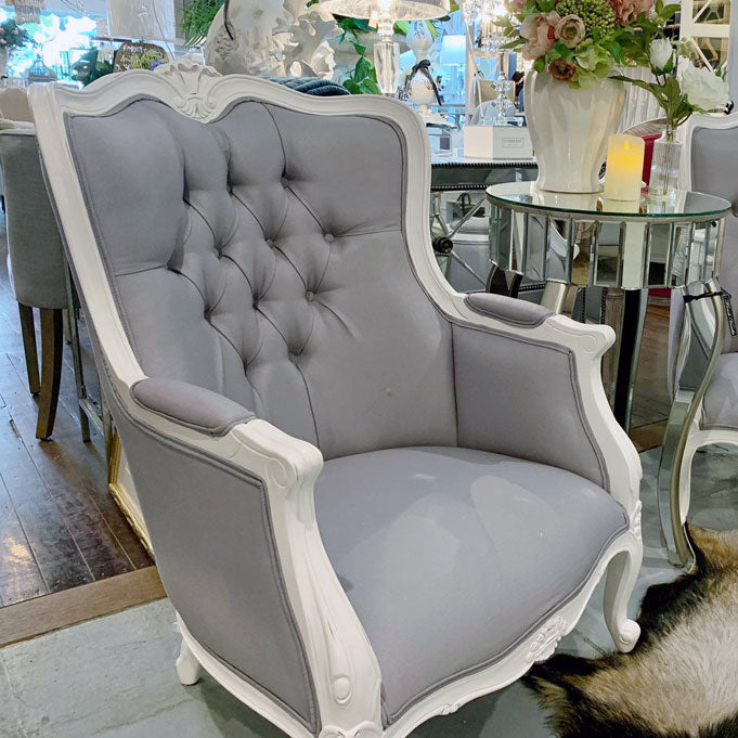 Grey French Provincial Armchair