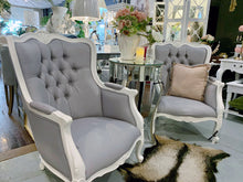 Load image into Gallery viewer, Grey French Provincial Armchair Set