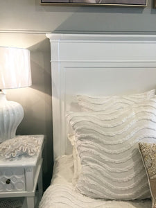 Close Up of Hamptons Style Bed Frame