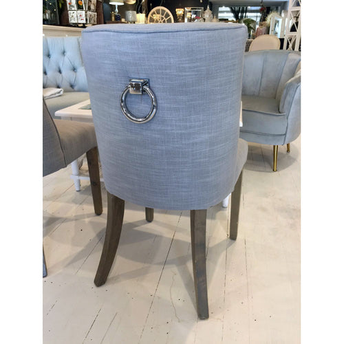 Hamptons Style Dining Chair with Pull Back View