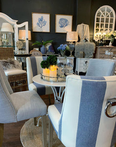 Hamptons Style Dining Chair with Pull Styled View