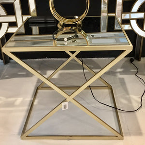 Gold Mirrored Accent Table