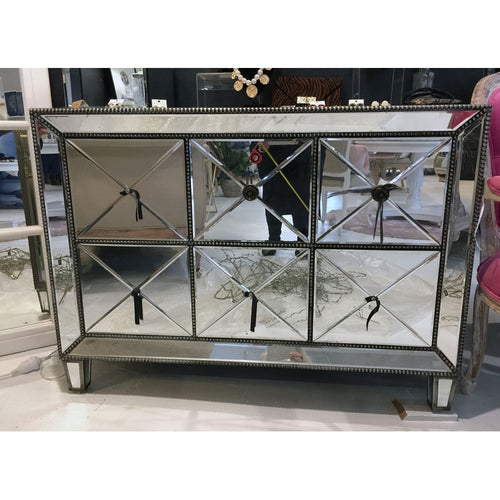 Mirrored 6-Drawer Dresser