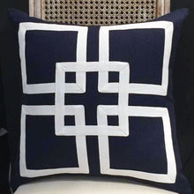 Load image into Gallery viewer, Hamptons Style Navy Cushion