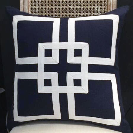 Hamptons Style Navy Cushion