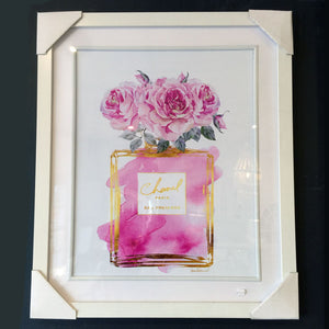 Pink Chanel Perfume Print Wall Art