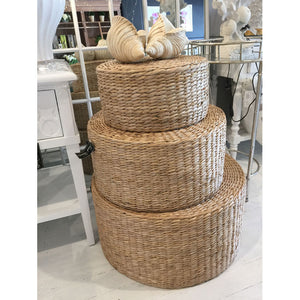 Stacking Rattan Footstools