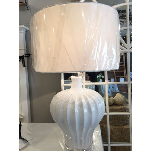White High Gloss Coastal Lampshade