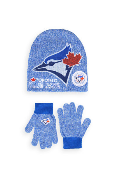 MLB Blue Jays Kids Hat & Glove Set