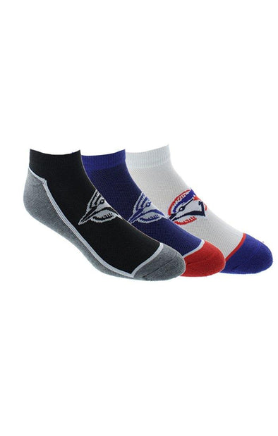 MLB Blue Jays Mens 3 Pack No Show Socks