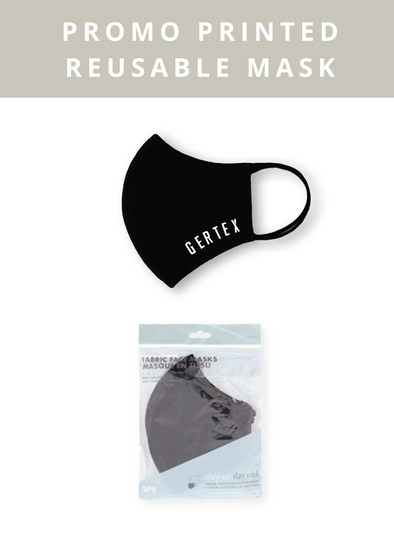 Reusable Custom Print Mask - Black