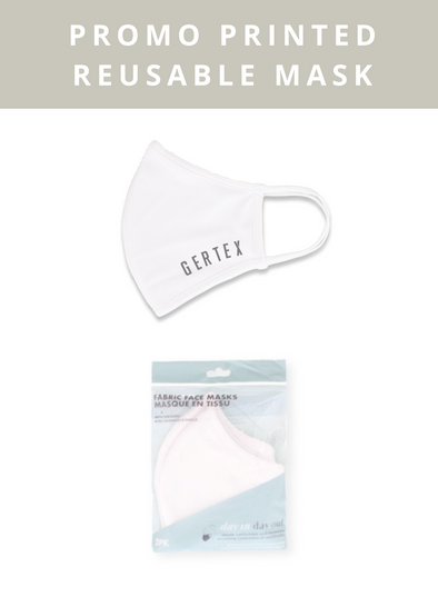 Reusable Custom Print Mask - White