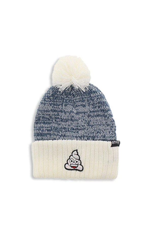 Emoji Ladies Light Grey Pom Pom Toque - BUWU