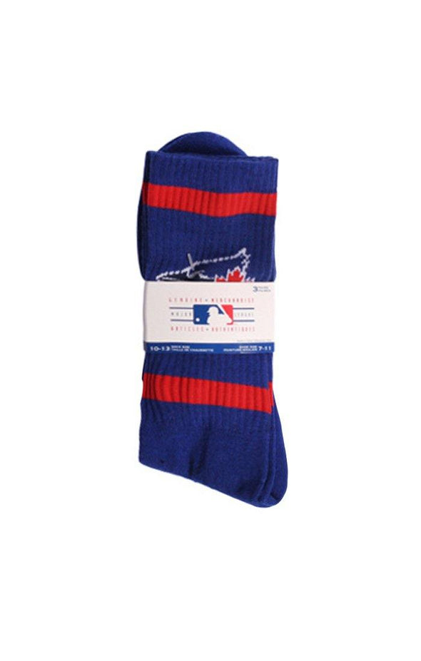 MLB Blue Jays Men's 3 Pack Crew Socks - BUWU
