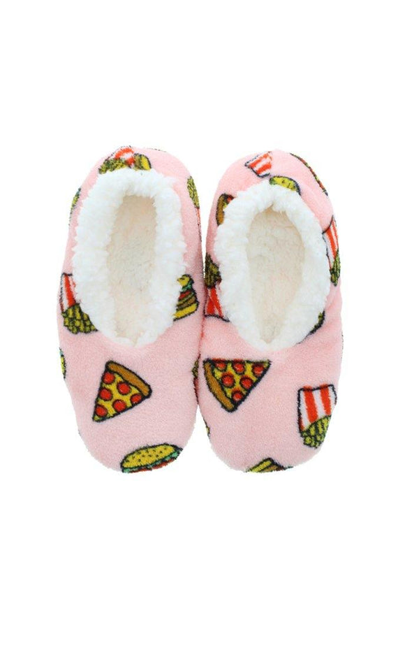 Pizza Foodie Plush Slippers