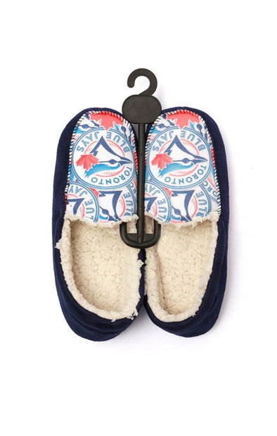 MLB Blue Jays Sherpa Kids Loafer Slippers