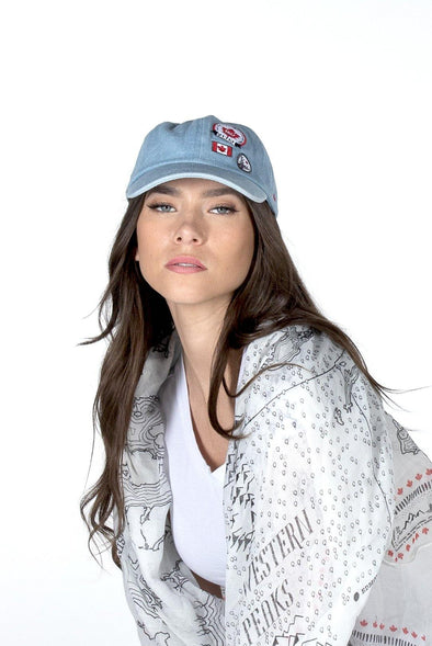 Canada Ladies Blue Denim Baseball Cap