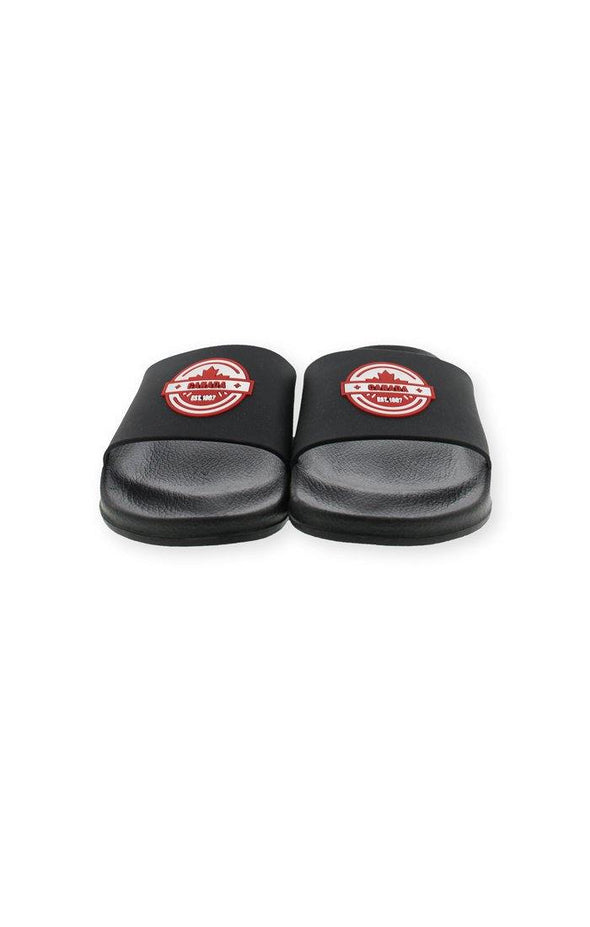 Canada Mens Black Slides - BUWU