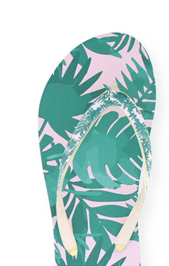 Beach PALM Ladies Sublimated Flip Flops