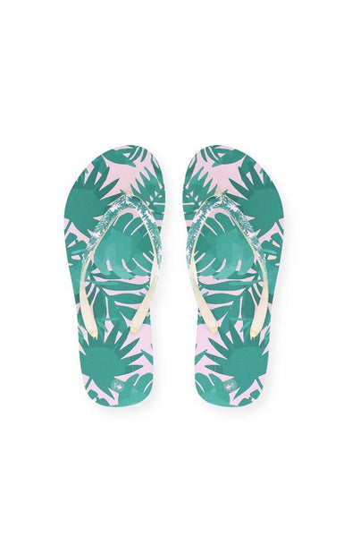 Beach PALM Ladies Sublimated Flip Flops - BUWU