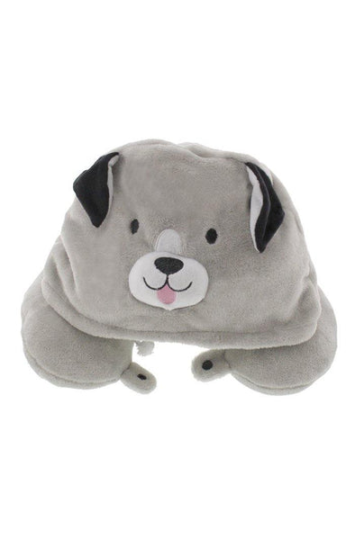 Fleece Hooded Dog Travel Pillow - BUWU