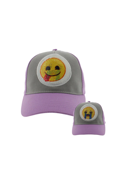 Emoji Kids 2 Way Sequins Emotional Baseball Cap - BUWU