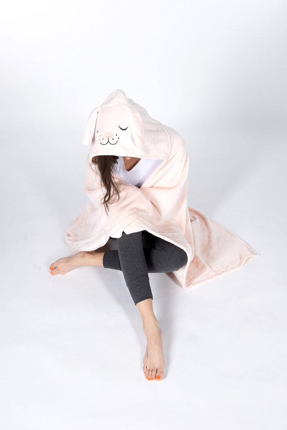 Hooded Critter Plush Blankets - BUWU