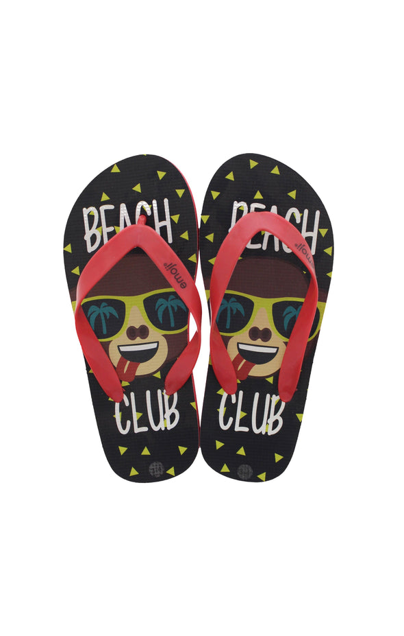 Emoji Kids Beach Club Flip Flops